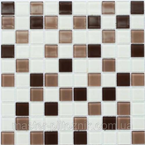 Мозаика Leo Ceramica стеклянная  coffe white