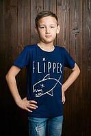 Модная детская футболка для мальчика с рысунком