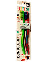 Детская зубная щетка Dontodent Junior 2 в 1 (от 6 лет)