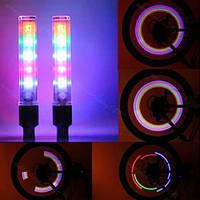 Светящиеся светодиодные колпачки на колеса, Светодиодная подсветка колес, Подсветка дисков (радужный)