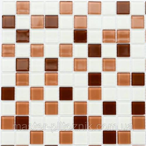 Мозаика Leo Ceramica стеклянная Brown white