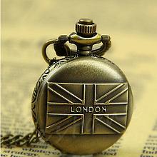 Кварцевые карманные часы на цепочке London