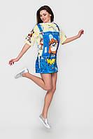 Короткое платье с мультяшным принтом