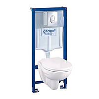 Комплект инсталляции Grohe Solido Perfect 4 в 1 - инстал. , подвесным унитазом .с сидением Soft-close