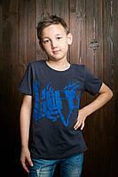 Качественная детская футболка с надписью для мальчика