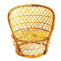 Кресло из лозы 24х20см
