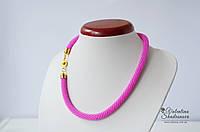 Вязаный жгут розовый, фото 1
