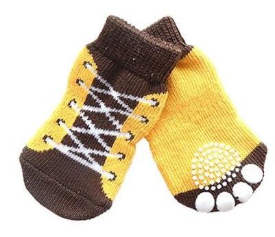 Носки для маленьких собак комплект 4 шт.