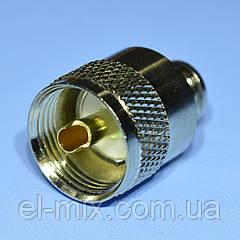 Штекер UHF под RG58 накручиваемый, gold pin WTY0488-CU