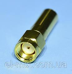 Штекер SMA-RP под кабель H155 обжимной, gold  WTY0602