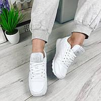 Женские кроссовки, эко кожа, подошва 2 см, белые /  кроссовки для девочек, стильные