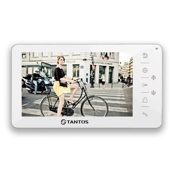 """Tantos Amelie (White) 7"""" hands free monitor simple function"""