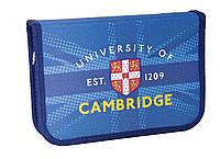 Пенал твердий одинарний з клапаном Cambridge blue, 20.5*14*3.5 код 531379