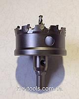 Коронка 60 мм по металлу керамике,дереву универсальная с победитовыми напайками Top Fix