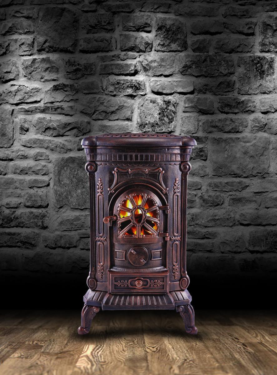 Камин Печь буржуйка чугунная Ambre 9 кВт