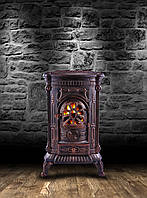 Камин Печь буржуйка чугунная Ambre 9 кВт, фото 1