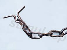 Ø 8 мм / Трёхконцевая цепь для привязи КРС / ВРХ / Скота / Коров, фото 3
