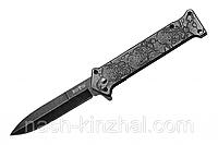 Ножик складной Черепок, клипса на ремень, мощная, крепкая сталь. Подпрарок мущине.