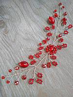 Подарок любимой на 8 Марта Веточка для прически Бордо, фото 1