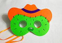 Карнавальная маска кактус Тоби  для сюжетно ролевых детских игр Дикий запад