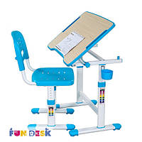 Комплект FunDesk Парта и стул-трансформер PICCOLINO ІІ  Blue