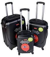 Чемодан сумка Gravitt 310 набор 3 штуки черный
