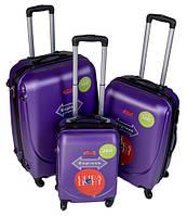 Дорожный Чемодан на 4 колесах Gravitt 310 набор 3 штуки фиолетовый