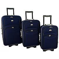 Набір валіз на колесах 773 набір 3 штуки синій / Комплект валіз, фото 1
