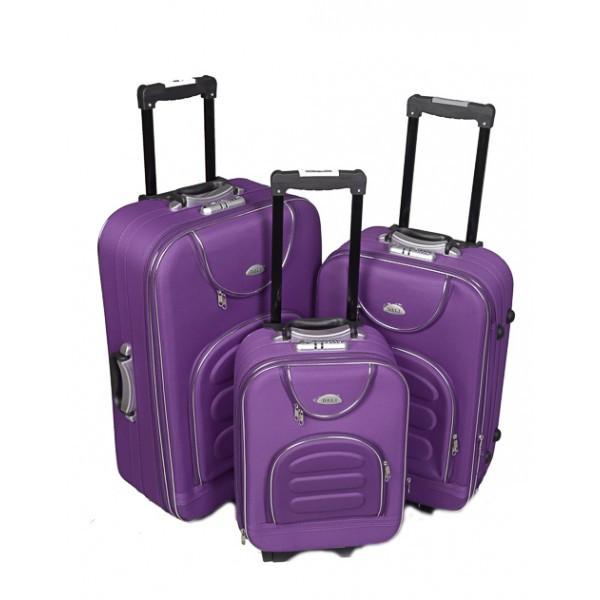 Чемодан сумка Deli 801 набор 3 штуки фиолетовый