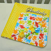 Детский плюшевый плед-конверт  Minky с хлопком