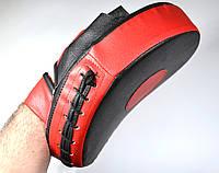 Лапа изогнутая (1шт) искусственная кожа, черно-красная