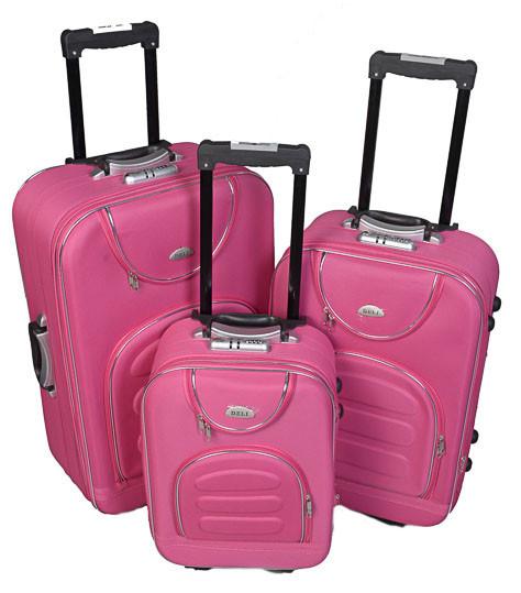 Чемодан сумка Deli 801 набор 3 штуки розовый