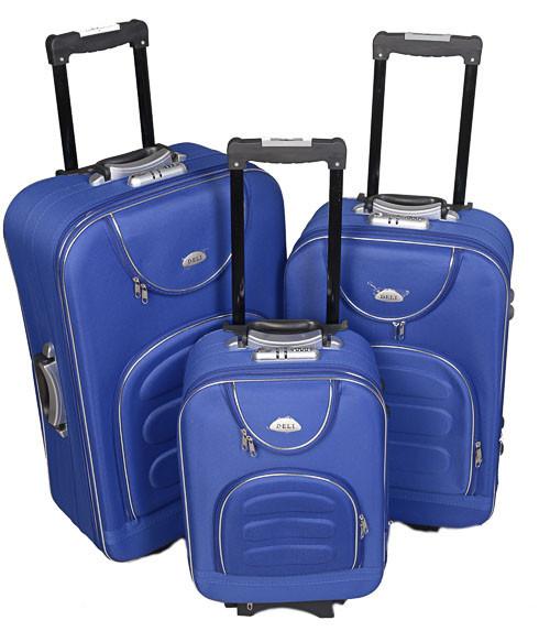 Чемодан сумка Deli 801 набор 3 штуки синий
