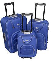 Чемодан сумка Deli 801 набор 3 штуки синий, фото 1