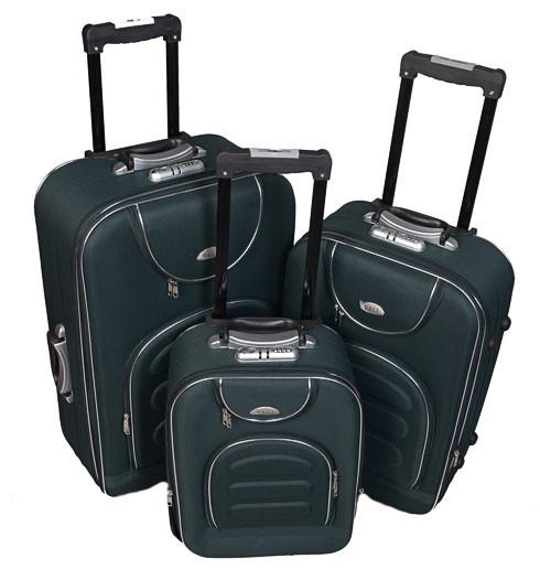 Чемодан сумка Deli 801 набор 3 штуки зеленый