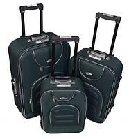 Чемодан сумка Deli 801 набор 3 штуки зеленый, фото 1