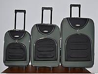 Чемодан сумка Deli 801 набор 3 штуки черно серый, фото 1