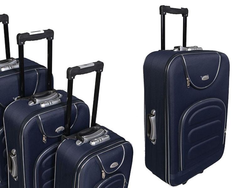 Чемодан сумка Deli 801 (большой) темно синий