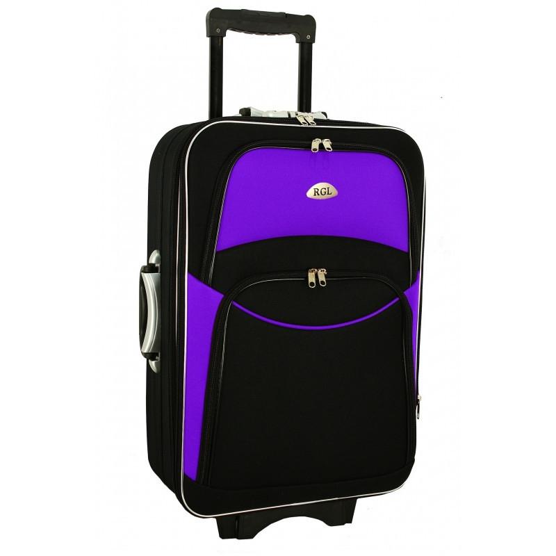 Дорожный Чемодан на колесах 773 (небольшой) черно-фиолетовый