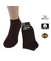 Носки мужские хлопок короткие темно-бордовые 200008