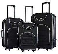 Чемодан Bonro Lux набор 3 штуки черный, фото 1