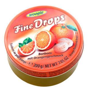 Леденцы Woogie Fine Drops (апельсин), 200 гр.