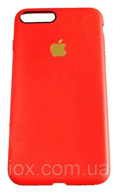 """Силиконовый TPU чехол-накладка с золотистым яблочком для Iphone 7 Plus (5.5"""")"""