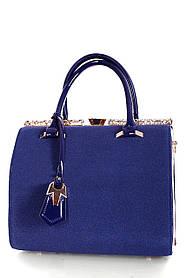 Замшевая женская сумка Синий
