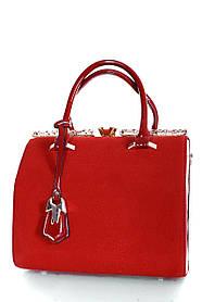 Замшевая женская сумка Красный