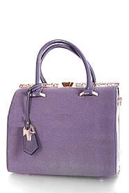 Замшевая женская сумка Серый