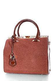 Замшевая женская сумка Рыжий