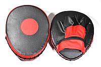 Лапа изогнутая (2шт) искусственная кожа, черно-красная