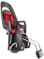 Велокресло детское HAMAX Caress на раму серое/красное