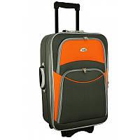 Чемодан сумка 773 (большой) серо-оранжевый